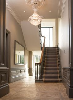 hallway decorating 578008933406939743 - If you're blessed with high ceilings, create a striking focal point and add height to a room with a statement light fitting. Hallway Chandelier, Hallway Lighting, Glass Chandelier, Hallway Decorating, Entryway Decor, Decorating Ideas, Hallway Designs, Hallway Ideas, Entryway Ideas