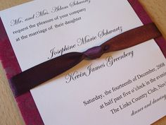 Pink and Purple Wedding Invitation