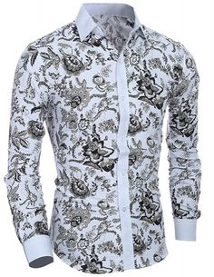 Cheap Casual Shirts, Buy Directly from China Suppliers:Camisas Hombre Vestir Dress Shirts Mens Shirt Slim Fit Chemise Homme Men Shirt Ethnic Flowers Heren Hemden Camisa Masculina XXL Cool Shirts For Men, Casual Shirts For Men, Men Casual, Long Sleeve Shirt Dress, Long Sleeve Shirts, Dress Shirts, Camisa Multicolor, Business Dress, Mens Shirts Online