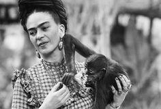 Frida Kahlo y mono
