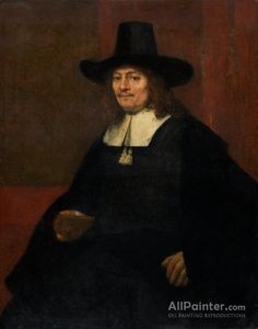 Rembrandt Van Rijn Portrait Of A Man In A Tall Hat oil painting reproductions for sale