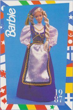 1991 Mattel Barbie Trading Card 77 1987 Icelandic Barbie Dolls of The World   eBay
