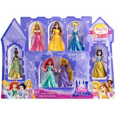 Disney Princess Little Kingdom Magiclip 7-Doll Giftset ($32) ❤ liked on Polyvore featuring toys