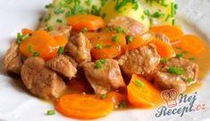 Vepřové kostky v mrkvi | NejRecept.cz No Salt Recipes, Cooking Recipes, Good Food, Yummy Food, Healthy Fruits, Food 52, Main Meals, Side Dishes, Curry