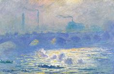 El puente de Waterloo -Claude Monet-