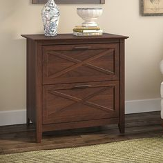 Beachcrest Home Oridatown Lateral Filing Cabinet, office design, office decor, interior design, home sale 2 Drawer File Cabinet, File Cabinet Furniture, Wood File, Bing Cherries, Floating Desk, Lateral File, L Shaped Desk, Wood Drawers, Cabinet Colors