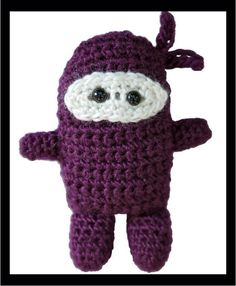 """Purple Stitch Project Purple Ninja This little guy is the official PSP mascot. He battles for an epilepsy cure and says, """"Hi-Yah!"""" to seizures."""