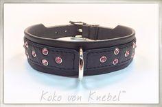 "Black & Pink for Big ""4-pawed Ladies"" - 100% Handmade in Germany - Handcrafted by Koko von Knebel"