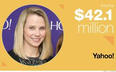 Top Paid Women CEOs  Of the 200 top paid CEOs in America, just 13 are women. Yahoo's Marissa Mayer is no. 1 on the list. Guess it pays to lean in. @CNN #women CEOs