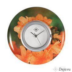 Lyrikscheibe L 378 Hellorange rund Blume 40mm, 16 EUR