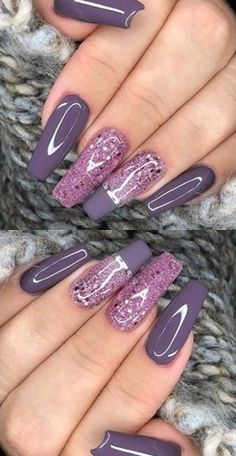✔ 72 Fabulous Ways tо Wear Glitter Nails Lіkе а Princess summernails nailsart nailsdesign nailartdiy nailartgallery nailartideas fakenails nailfashion nudenails 741616263623527795 Purple Acrylic Nails, Purple Glitter Nails, Purple Nail Art, Purple Nail Designs, Summer Acrylic Nails, Best Acrylic Nails, Acrylic Nail Designs, Glitter Nail Art, Nail Swag