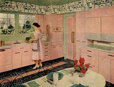 Mod Vintage Life: Pink Kitchens..I am so in love!!!