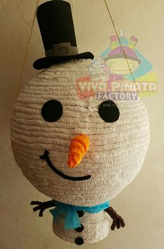 #Piñata #MuñecoDeNieve ☃  ya están a qui los pedidos Navideños  que esperan para apartar su fecha.☃
