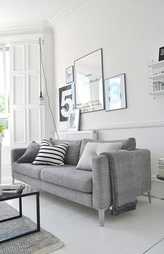 Home Interior Scandinavian 70 Stunning Grey White Black Living Room Decor Ideas And Remodel living Living Room Grey, Living Room Interior, Home Living Room, Living Room Designs, Living Room Decor, Tiny Living, Apartment Living, Decoration Inspiration, Decor Ideas
