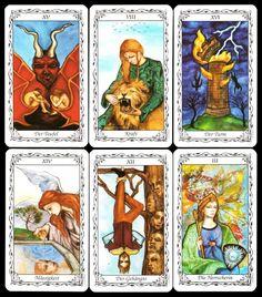 NEU! RARITÄT 1995 Seltenes Mittelalterliches Tarot Hudes Tarot Kartenlegen