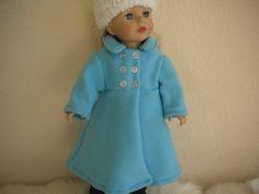 Light Blue Fleece Coat with White Eyelash Crochet by MermaidBaby