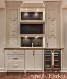 Veranda Interiors - Wet Bar with Floating Shelves