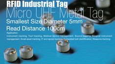 This Small UHF Tag could be perfect for your RFID Project, Micro in Size at just it can be hidden or tucked away and placed on Metal. Weighing a mere 1 gram this Passive (No Battery) RFIDTag can retain your data safely away for up to 50 years. Tags, Metal, Metals, Mailing Labels
