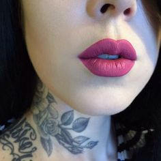 "Kat Von D liquid lipstick in ""Mother"""