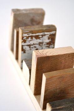 ★Les Tissus Colbert: Kartenständer aus Holzresten