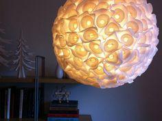 como hacer lamparas de papel colgantes