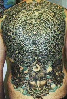 Tattoo Aztec Tattoo Body Art Back Tattoo Tattoo Ink Tattoo Studio Payasa Tattoo, Tatoo 3d, Stone Tattoo, Tattoo Trend, Sick Tattoo, Tribal Tattoos, Mayan Tattoos, Aztec Tattoo Designs, Body Art Tattoos