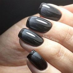 Black French Nail Design Unique and classy French manicure for your elegant look!Trending Black French Nail Design Unique and classy French manicure for your elegant look! Black French Nails, New French Manicure, French Tip Nails, Ombre French, Black Nails, French Tips, Black Polish, French Pedicure, Sparkle French Manicure