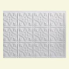 Fasade Traditional Style #1 Matte White Backsplash Panel | Overstock.com Shopping - The Best Deals on Backsplash Tiles
