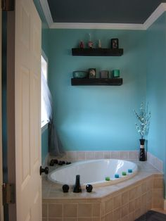 Stephanie Melancon would be very happy if I painted my bathroom this color :-)