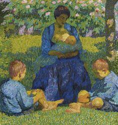 Maternité Giovanni Giacometti, 1908 Huile sur toile, environ 65 x 70 cm Collection privée