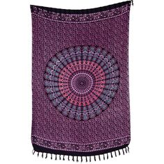 Anila Mandala Tapestry Hippie Mandala Tapestries Block Print Bohemian... ($20) ❤ liked on Polyvore featuring home, bed & bath, bedding, blankets, blankets & throws, grey, home & living, throws, grey throw blanket and lightweight throws