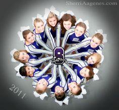 Cheer / Cheerleader / Cheerleading Portrait / Photo / Picture Idea - Team