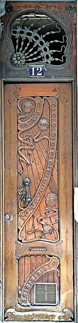 Belle epoque door, Barcelona by Arnim Schulz, via Flickr