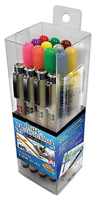 Micron/Gelly Roll 17-Piece Journaling Pen Set.   A great starter set for those just getting started in Bible Journaling, these pens are ideal for beginners and experts alike.   Bible Journaling 17-Piece Set includes:   Classic 08 (Red, Green, Brown, White) Moonlight 10 (Blue, Green, Orange, Pink, Violet, Yellow) Stardust Clear Metallic Gold Pigma Microns 01, 03, 005, and Graphic 1,Books of the Bible Ruler/Straight Edge/Bookmark