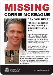 Spotted in Ipswich & Suffolk: As a continuation from our earlier Corrie Mckeague...