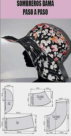 Sewing Paterns, Hat Patterns To Sew, Sewing Hacks, Sewing Tutorials, Sewing Crafts, Accessoires Barbie, Sewing Blouses, Sewing School, Diy Hat
