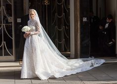 Nicki Hilton Wedding Day (I love her dress. I never expected her, to wear, something, so elegant and beautiful.)