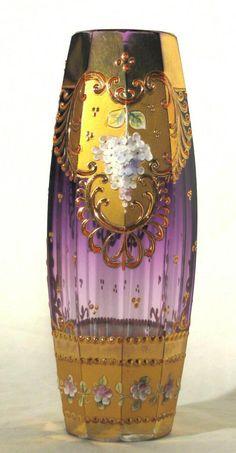 Moser art glass vases   biedermeier jugendstil art nouveau arts crafts modernismo art deco new ...