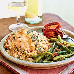 Parmesan Chicken and Rice Casserole < Healthy Chicken Casseroles - Cooking Light