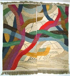 """Gunta Stolzl. """"Amden I""""  Wall hanging  1967  160 x 175cm    Private collection"""