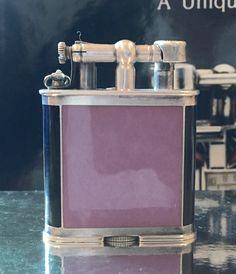 Dunhill 2 Tone B Size Enamel Watch Lighter