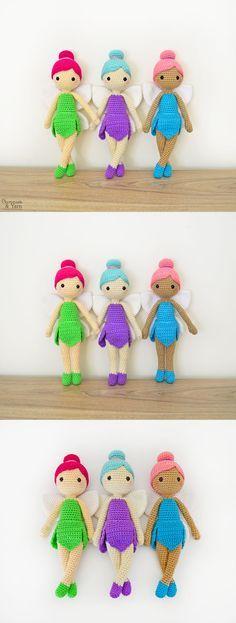 Crochet Pattern – Felicia the Fairy Doll – Amigurumi Häkelanleitung – Felicia die Fee Puppe – Amigurumi Crochet Fairy, Love Crochet, Crochet Gifts, Crochet Dolls, Crochet Pouch, Crochet Toys Patterns, Amigurumi Patterns, Stuffed Toys Patterns, Easy Crochet Projects