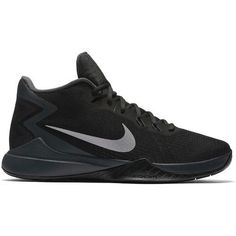 4547151b05db Nike Mens Zoom Evidence Basketball Shoes (Black Metallic Silver Anthracite