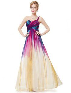 Ever Pretty Elegant One Shoulder Ruched Bust Colorful Formal Prom Dress