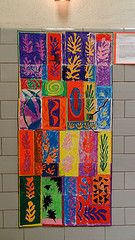 1st grade collaborative Matisse Mural....mural from Kathy Barbro @ Art Projects for Kids