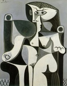 Pablo Picasso, Femme Assise. Picasso Black and White with 118 works will be at the Guggenheim Museum in New York City, began on Friday (05/10) and runs until January 26 2013.
