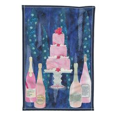 Pink Champagne Tea Towel on Special Edition by mag-o | Roostery Home Decor