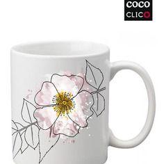 Mug églantine - personnalisable - cococlico - buvez dans un mug original !