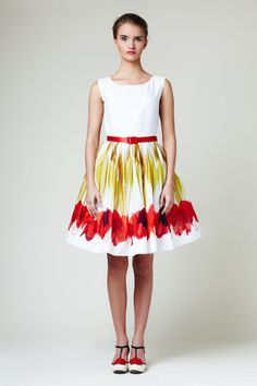 Red Tulips Dress by Mrs Pomeranz by mrspomeranz on Etsy, £339.00