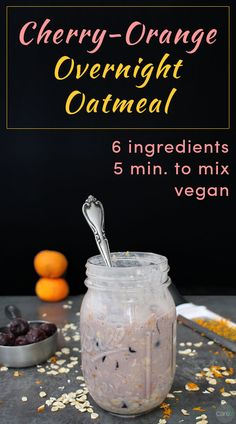 Make this easy Cherry-Orange Overnight Oatmeal recipe tonight, and it will be ready for breakfast in the morning. You can warm it up or eat it cold. Either way, it's a delicious, healthy on-the-go breakfast!